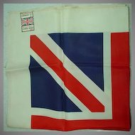 "Funky ""Carnaby Street"" Union Jack Scarf, Super Rare..."