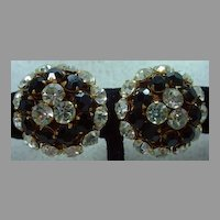 Vintage Miriam Haskell Rhinestone Earrings, Mint Condition, 1960's!