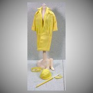 Mattel Barbie Outfit, Rain Coat, Excellent and Complete, 1963.