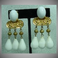 Early Kenneth Lane, Clip on Drop Earrings…