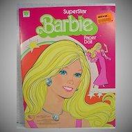Whitman Un-Cut SuperStar Barbie Paper Dolls, 1977!