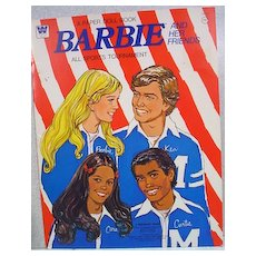 Whitman Barbie and Her Friends All Sports Tournament Paper Doll Book, Uncut, 1975