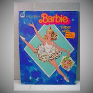 Uncut, Whitman Ballerina Barbie Paper Dolls, 1977!