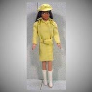 Mattel Brunette Skipper in Rain or Shine Outfit, 1964