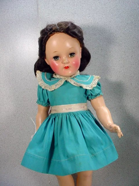 Ideal P 92 Toni Doll With Center Part Brunette Hair 1949