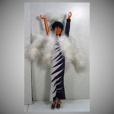 """Mego 12"""" Cher Doll is Bob Mackie Design Gown, 1970's!"""