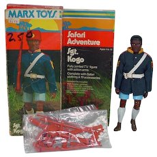 Rare Marx Safari Adveture Sgt. Kogo Action FIgure, MIB, 1975