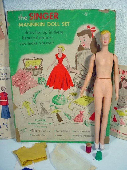 1949 singer 12 mannikin doll with accessories fourty fifty sixty