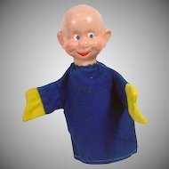 Vintage Walt Disney Dopey of the Seven Dwarfs, Hand Puppet, Crown Toys, 1940's