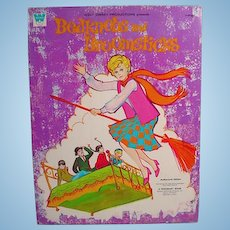 Whitman Un-Cut Paper Dolls, Bedknobs and Broomsticks, 1971