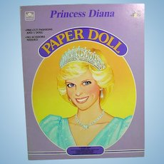 Princess Diana Paper Dolls, Mint and Un-cut, 1985, Golden Books