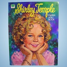 Whitman Un-Cut Shirley Temple Paper Doll Book, 1976
