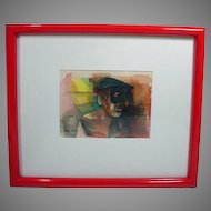 Original Hand Colored Etching by American Artist Joel Beckwith