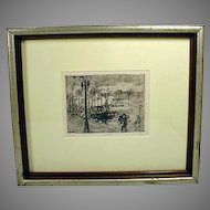 Original Etching and Drypoint Engraving by American Artist, Joel Beckwith, 1990's