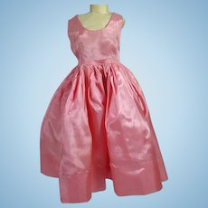 Vintage Madame Alexaander Cissy Size Pink Taffeta Cocktail Dress, 1950's
