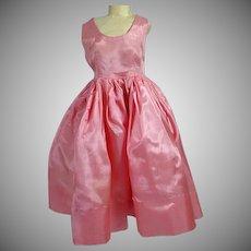 Vintage Madame Alexaander Cissy Size Pink Taffeta Cocktail Dress, 1950's