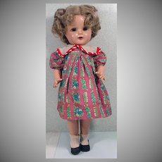 """1930's Composition 16"""" Shirley Look-A-Like Doll"""