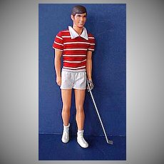 Mattel Free Moving Ken Doll From 1975 In Original Outfit.