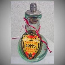 Rare Oriental Poppy Buisson Perfume Bottle, London, 1930's