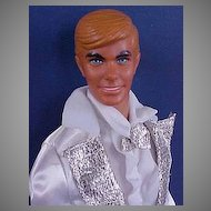 Mattel 1974 Sun Valley Ken Dressed In 1978 Super Deluxe Silver'N White Tux