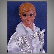 Mattel 1974 Sun Valley Ken Dressed In 1978 Super Deluxe Silver'N White Tux