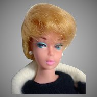 Vintage Barbie Lt. Blond Bubble Cut w/ Pink Lips, 1962