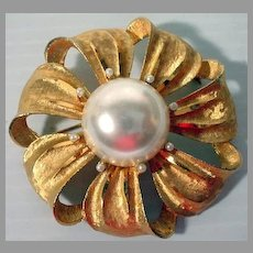 Vintage Large BSK Ladies Brooch, 1970's