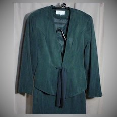 CACHE` Tie Front Jacket and Fitted Skirt