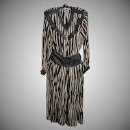 BELLINO, PARIS, V-Neck, 100% Silk Set with Attached Leather Cummerbund