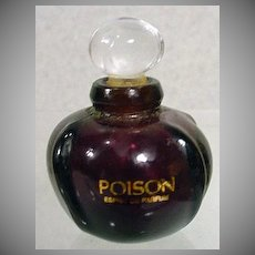 Miniature Bottle of Poison Perfume, Christian Dior, 1980's