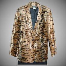 VINTAGE, Fun Fur, Harve` Bernard Single Button Jacket