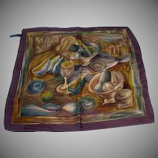 Ermenegildo Zegna Men's Silk Pocket Square, 1990's