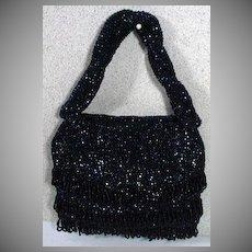 Vintage 1940's Ladies Beaded Evening Bag