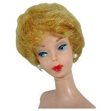 , 1961Early Ash Blond Barbie Bubble Cut, Red Lips, ,Mattel