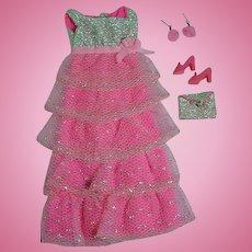 Vintage Mattel Barbie Mod Outfit, Romantic Ruffles, 1969