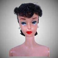Vintage 1961 #5 Barbie Pony Tail, Jet Black Hair, Big Red Lips!