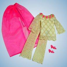 Vintage Mattel Barbie Outfit, The Lace Caper, 1970, Complete