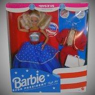 Mattel NRFB Barbie For President Gift Set, 1991!