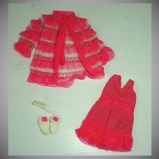 Mattel Vintage Francie Outfit, Snappy Snoozers, 1970