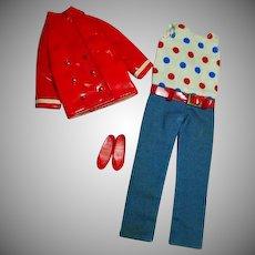 Vintage Mattel Skipper Outfit Patent 'N Pants, 1968