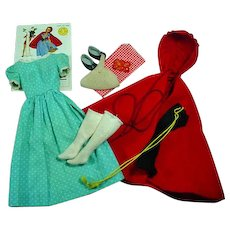 Vintage Mattel Barbie Outfit, Little Red Riding Hood, 1964