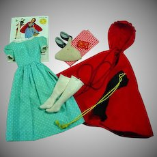 Vintage Mattel Barbie Outfit, Little Red Riding Hood, 1964