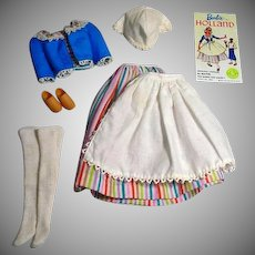 Vintage Mattel Barbie Outfit, Barbie In Holland, 1964