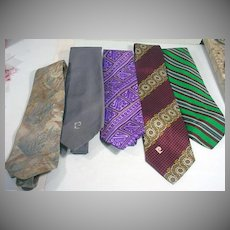 Lot of Vintage Men's Pierre Cardin Ties, 1970's Mod!