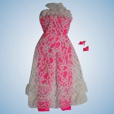 Vintage Mattel Barbie Outfit, Jump Into Lace, 1968