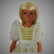 Vintage Mattel Malibu Skipper Doll in Flower Girl, 1974