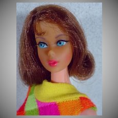 Mattel Vintage 1969 TNT Barbie w/Brownette Hair