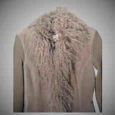 Vintage Suede and Lamb Ladies Jacket