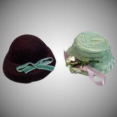 Two Vintage Madame Alexander Cissette Size Hats, 1950's