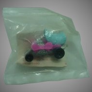 "Mattel 1972 Zowees ""Hot Wheel"" Car, Shell Promotional Piece Sealed in Plastic!"